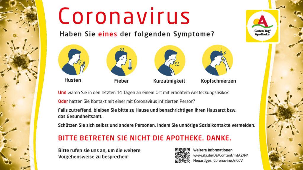 Coronavirus Vorsichtsmaßnahme